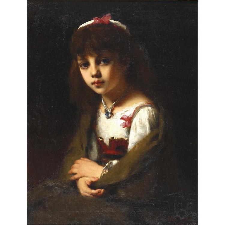 Attrib. ALEXEIVICHl Harlamoff(1842-1922) A GIRL
