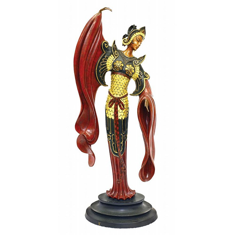 ERTE(1892-1990) A BRONZE FIGURE OF WOMAN
