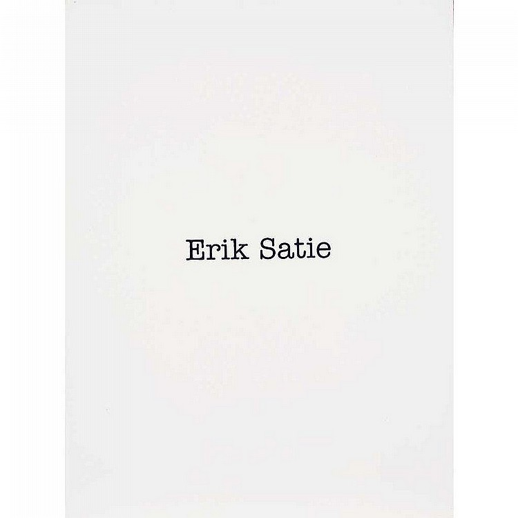 Patterson Simon(1967-): Erik Satie (Name Painting