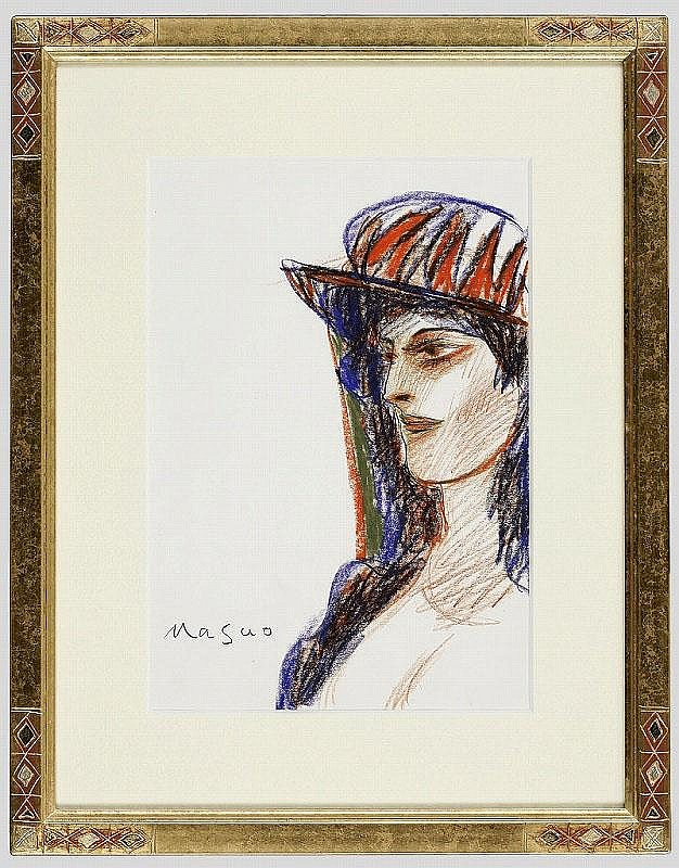 ARTIST: Masuo Ikeda TITLE: WOMAN IN HAT