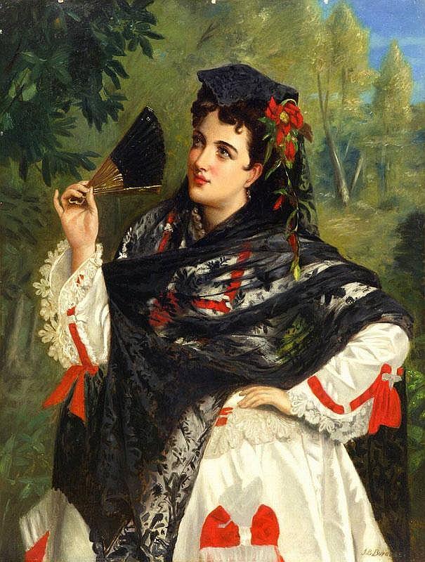 ARTIST: John Bagnold Burgess(1830~1897) TITLE: A