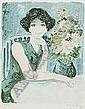 Bernard Charoy(1931-) CHRYSANTHEMUM AND A GIRL/BIG, Bernard Charoy, Click for value