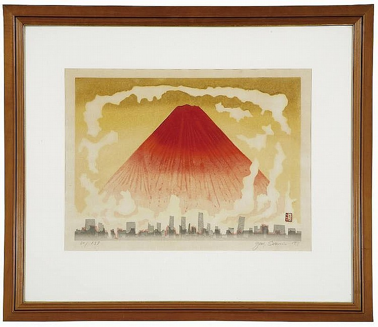 Junichiro Sekino:   Red Mt. Fuji