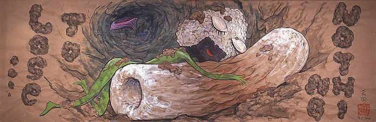 ARTIST: Makoto Aida(1965-) TITLE: Onigiri-Man