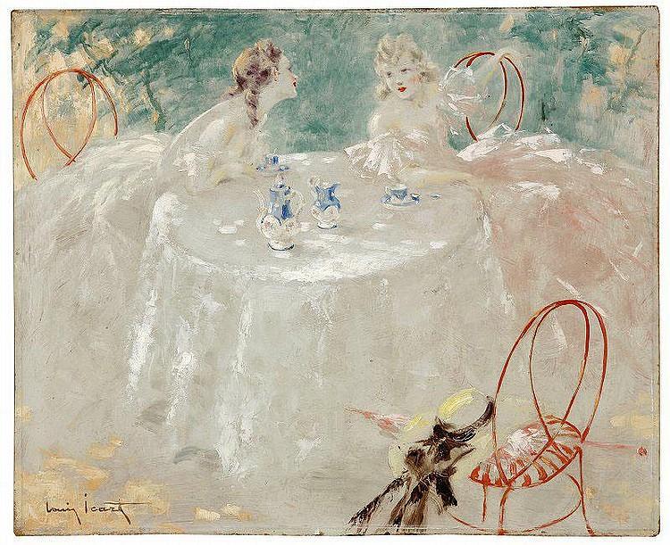 Louis Icart  (1888-1950): TEA TIME