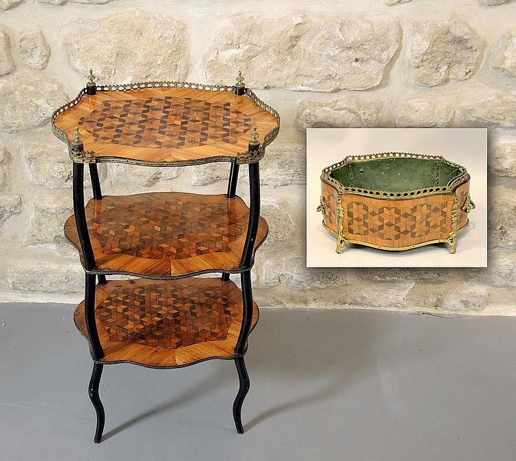 Table jardini re napoleon iii for Jardiniere napoleon 3