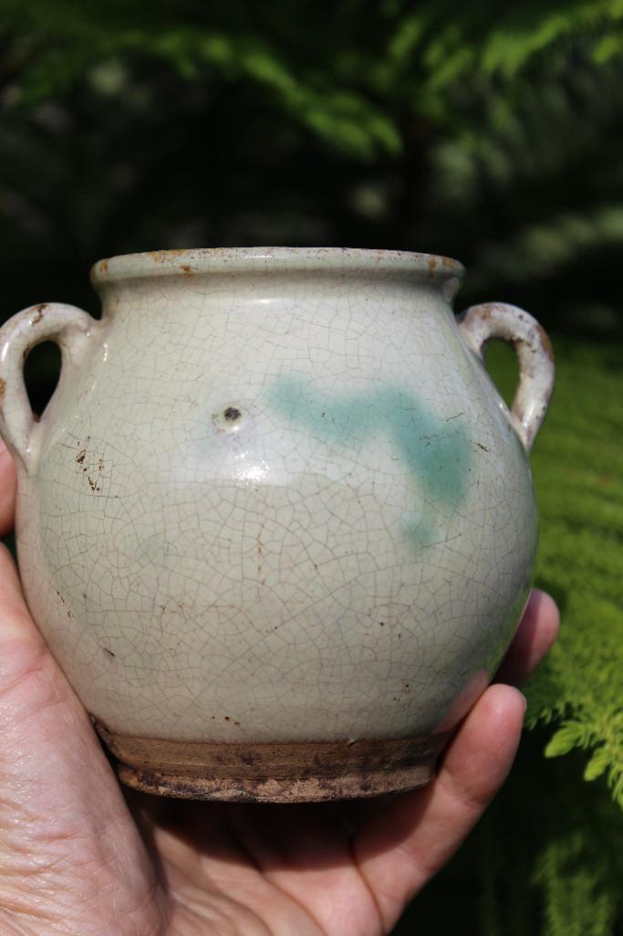 Yuan dynasty, 1279-1368, Jun turquoise splash pot ware