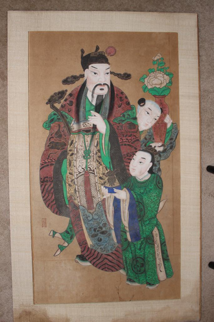 Certified Chinese Republican (1912-1949) folk painting on Lu (Daoism)