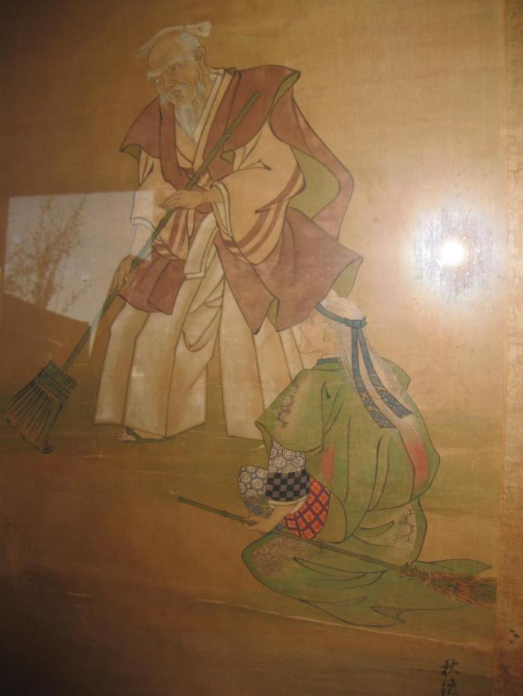 Japanese painting on silk, 1700-1850, Autumn Official