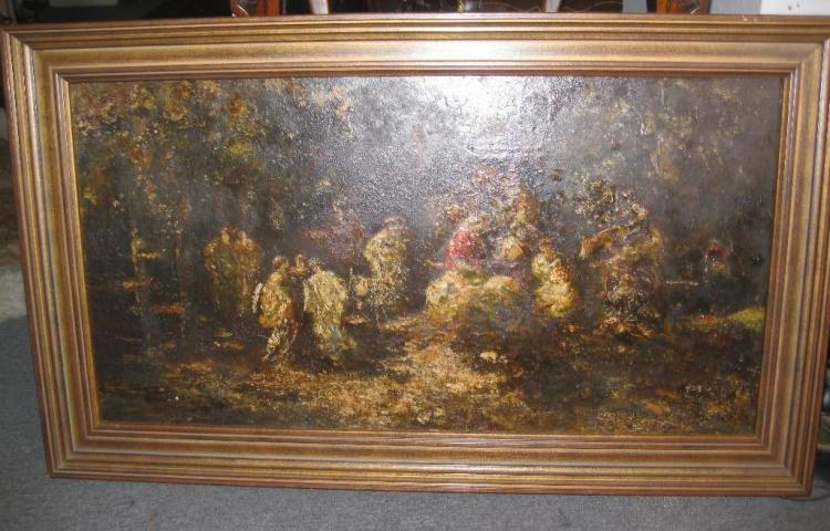 Monticelli (1824-1886), France, 19th c, Oil Painting, Nobility in the Garden