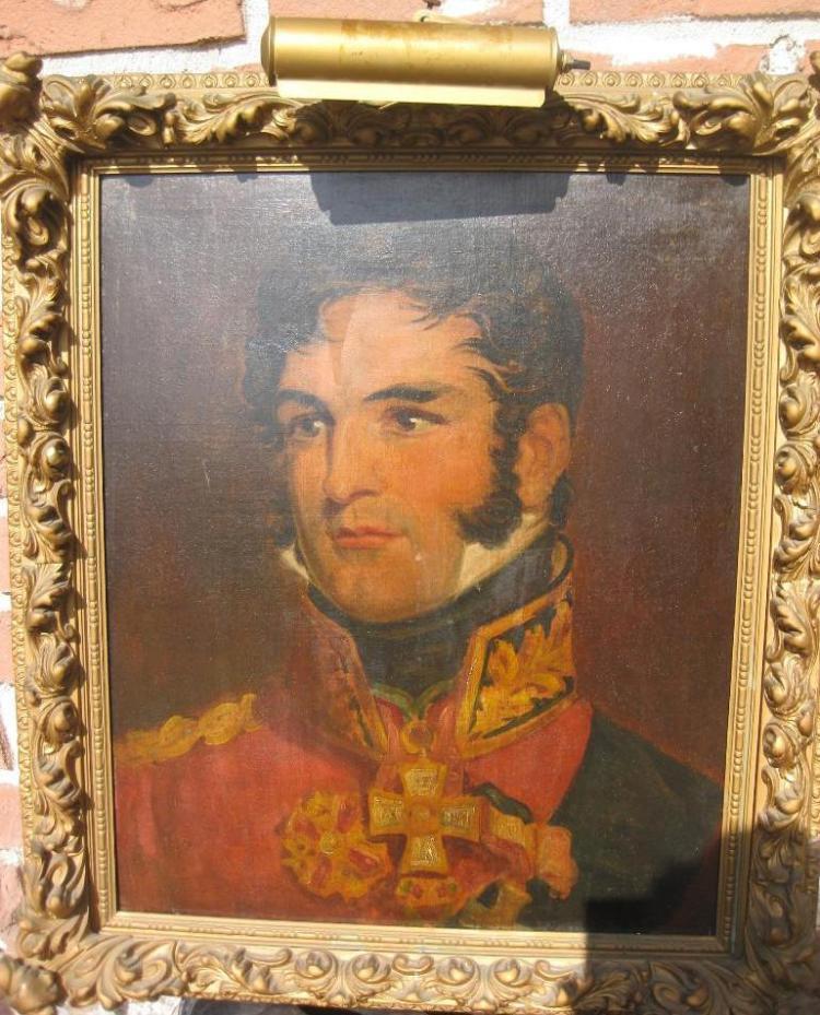 Portrait of King of Belgians Leopold I, circa 1815, by George Dawe(?)