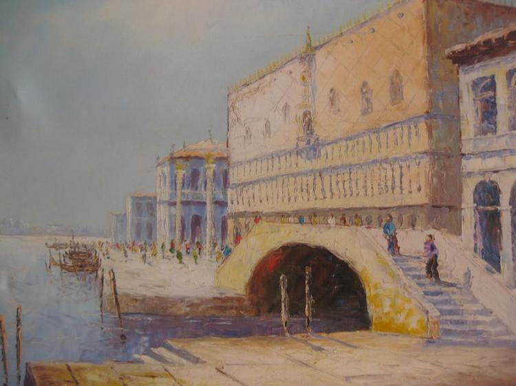 Doge's Palace in Venice, by Ricco Azzuro, oil on canvas