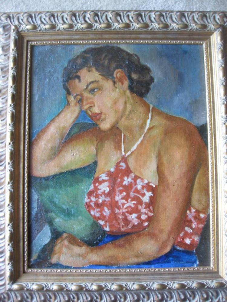Impressionism Portrait of Jane Smith, 1935, by Elena Krylenko