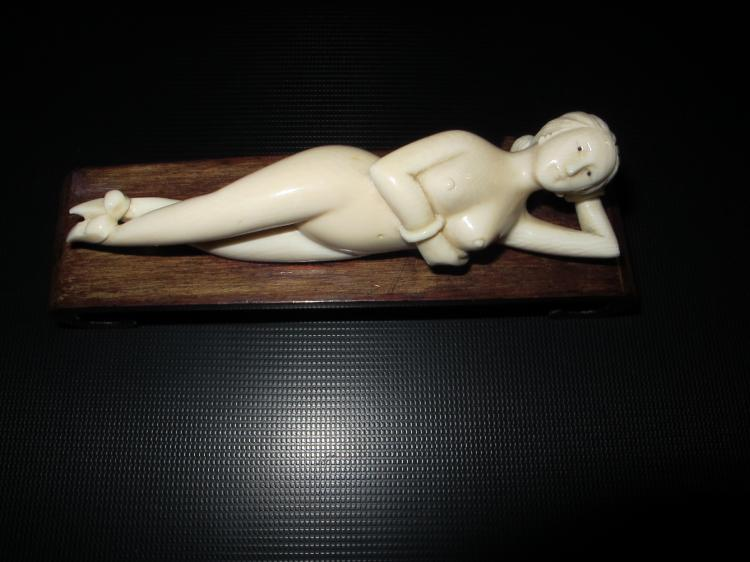 Antique Chinese carved bone Doctor's model, ca 1900