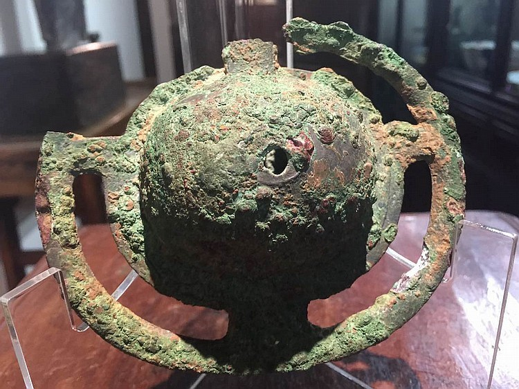 Certified Chinese bronze bell from chariot (carriage), Han dynasty (206 BC-220 AD)
