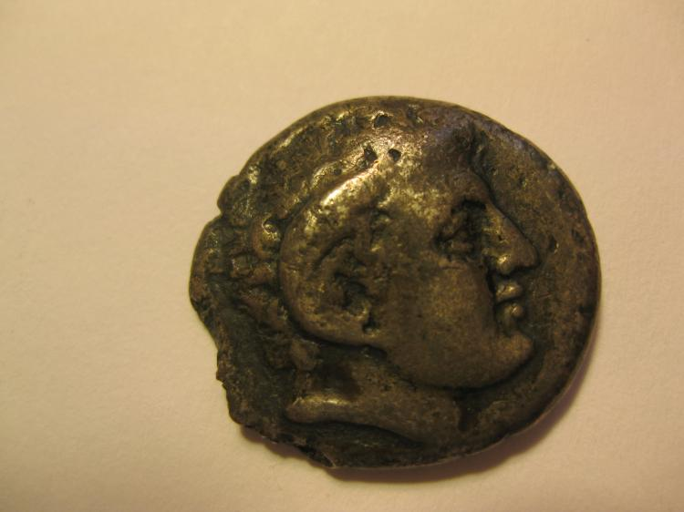 Cyrenaica, Cyrene, AR didrachm Greek silver coin, 308-277 BC, 7.2 g;