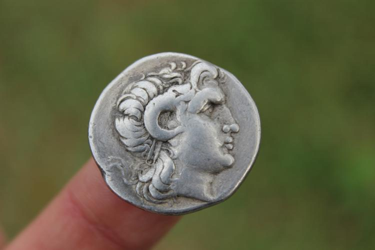 Greek silver coin Alexander the Great Tetradrachm 16.45 g, Lysimachus, 298-281 BC;