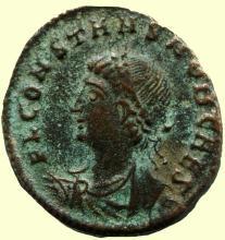 Roman coin, Ihnasyah Hoard, Constans (337AD), Nicomedia, 11711