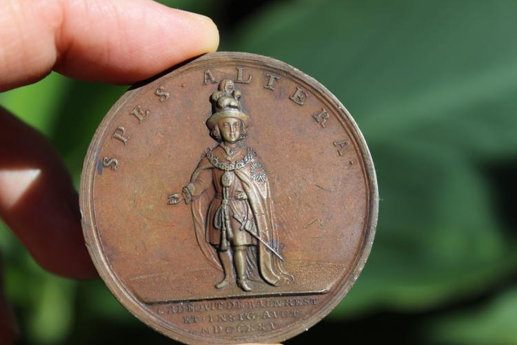 British Bronze medal George, Order of Bath revived, 1725.