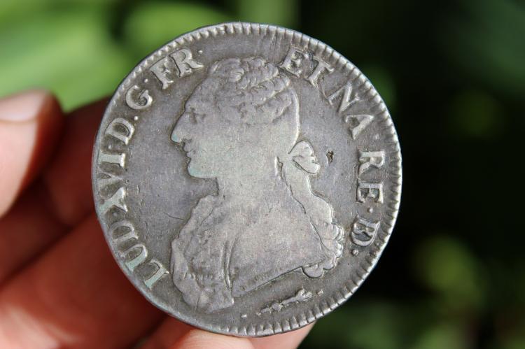 French silver ECU coin Louis XVI, 1780