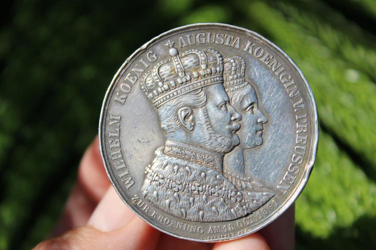 German States Coronation Silver medal, Prussia 1861