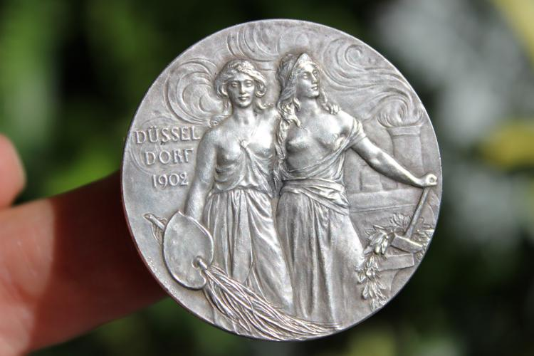 German silver medal, 42.5 mm, Dusseldorf 1902