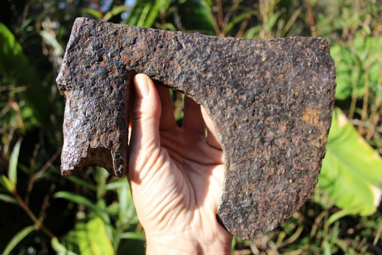 Amazing European Medieval German (?) huge iron cutting Axe #12