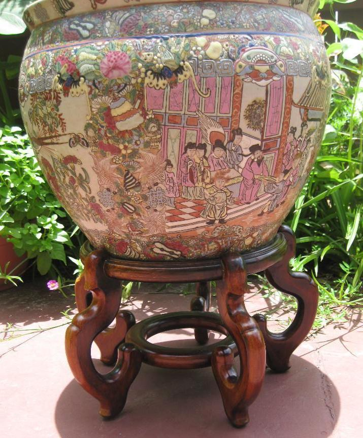 Chinese porcelain fish bowl qianlong emperor 1711 1799 for Asian furniture tampa