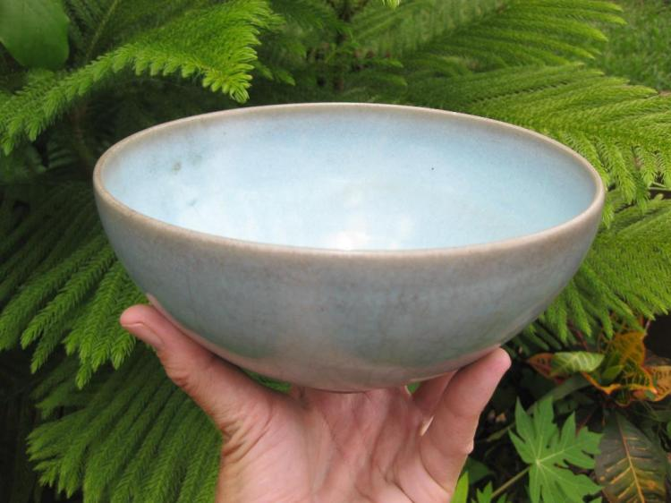 Large 39 jun 39 turquoise bowl attributed to song dynasty for Asian furniture tampa