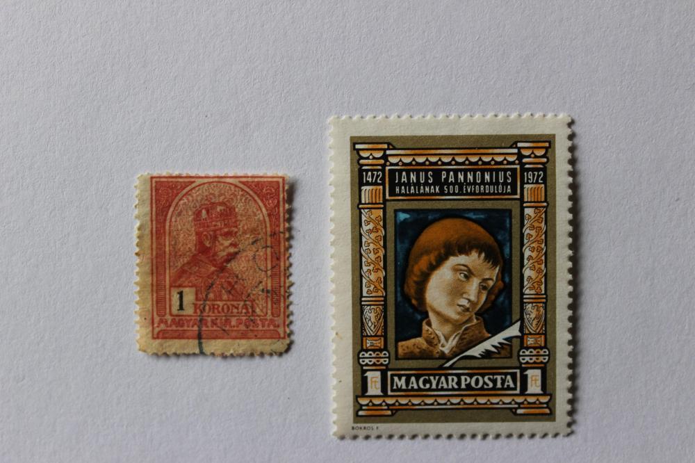 1909-1913 King Franz Jozeph I, 1 korona, Hungary 2 stamps;