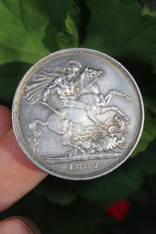 Great Britain crown Queen Victoria 1887, British silver coin