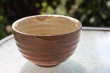 Shino Yaki Japanese Chawan wavy glaze bowl