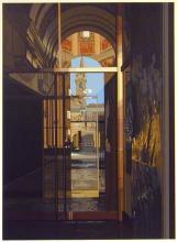 Richard Estes, Salzburg Cathedral, color silk screen print, 1983