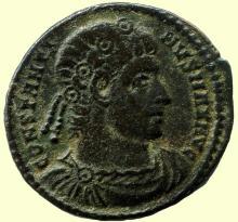 Roman bronze coin, SPC Ihnasyah Hoard, Constantine I (306-337AD), Nicomedia, Royal Ontario Museum ANC11171;