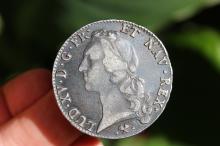 French silver ECU coin Louis XV, 1768;
