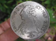 French silver ECU coin Louis XVI, 1783, bold EF