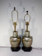 Pair of Chinese Pewter Tea Caddies