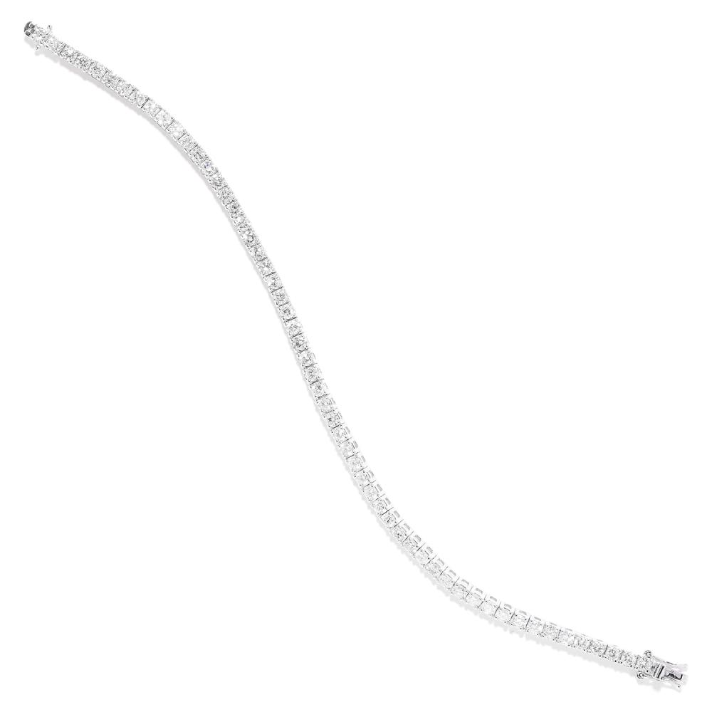 5.60 CART DIAMOND LINE BRACELET in 18ct white gold, comprising a single row of round cut diamonds, stamped 18K, 18.0cm, 13.0g.