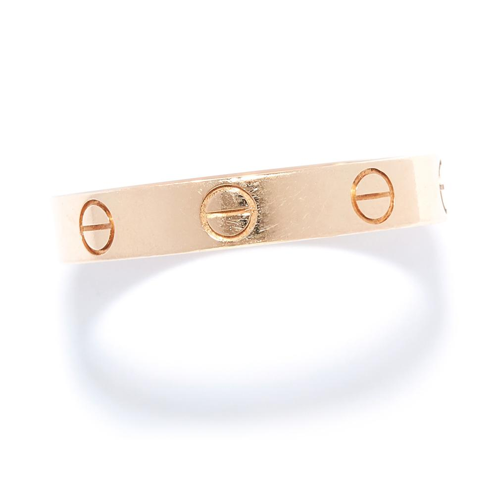 LOVE RING, CARTIER in 18ct rose gold, in love ring design, signed Cartier, stamped 750, size Q / 8, 3.54g.