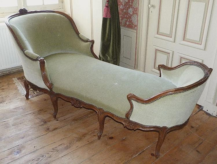 Sam belle chaise longue en noyer for Chaise en noyer