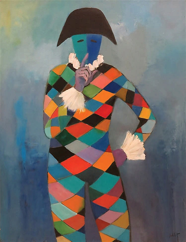 Franz SCHLITZ (1934)  Arlequin
