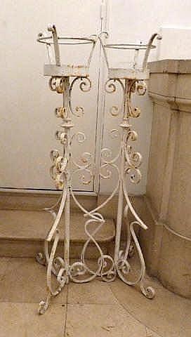 Paire de porte flambeaux d 39 ext rieur for Portes pliantes exterieur