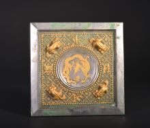 A CARVED GILT-SILVER MIRROR  (Tang Dynasty)