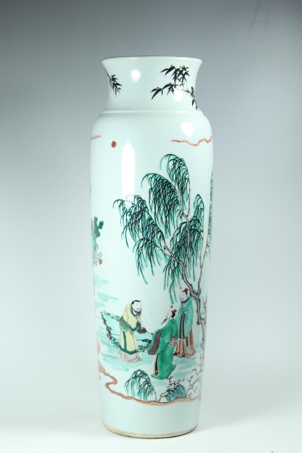A WICAI BALUSTER.VASE.QING DYNASTY
