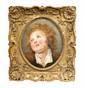École FRANCAISE du XVIII° siècle, entourage de Jean Honoré FRAGONARDPortrait d'un jeune garçon blondToile ovale insérée dans une toile rectangulaire39,5 x 33 cmProvenance :Vente S. Pozzi, Paris, Galerie Georges Petit (Maître Laire Dubreuil), 24