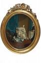 École FRANCAISE de la fin du XVIIIème siècle, suiveur de François BOUCHERLa lectureLa marchande de mode ou Le matinPaire de toiles82 x 73 cmLe second tableau est une reprise avec des variantes de la gravure d'après l'aeuvre (Toile, 64 x 53 cm)