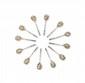 SUITE de DOUZE CUILLERES (onze cuillères et une au modèle) en vermeil, le manche torsadé, décor floral en émaux polychromes cloisonnés sur le cuilleron, fond amati. Maison FABERGEOrfèvre Johan Victor Aarne