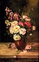 V. MARTIN (Actif au XIX° siècle)Bouquet de pivoinesdans un vaseSur sa toile d'origine121 x 73,5 cmSignée en bas à droite V.Martin