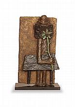 Jean LAMBERT-RUCKI (1888-1967)  L'homme à la marguerite  Épreuve en bronze patiné. Signée, numérotée EA 1, Fonderie de la Plaine H : 45 cm Modèle créé vers 1937