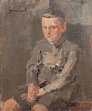 GEN-PAUL (1895-1975)  L'enfant assis  Huile sur toile signée en haut à gauche  81 x 60 cm